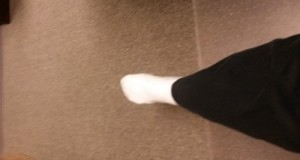 foot with sock